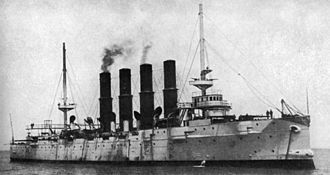 Battle of Chemulpo Bay - The Russian cruiser Varyag.