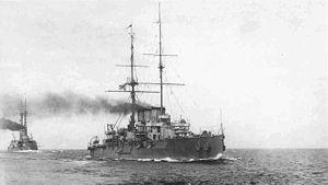Russian cruiser Rurik (1906) - Image: Ryurik(II)1913