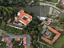 Sázava Monastery, aerial view crop.jpg