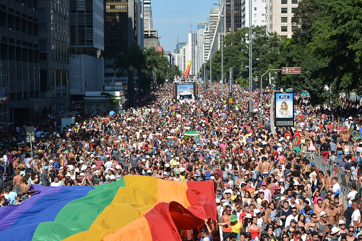 gay parade from above