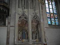Sépulcre et vitraux de l'église Saint-Marcel de Zetting Moselle France IMG 7309.JPG
