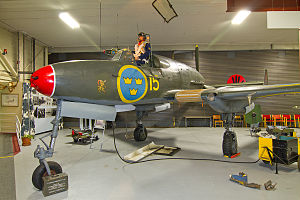SAAB 21 - SAAB A21A-3 on display at Söderhamn /F15 Aviation Museum, Söderhamn, Sweden