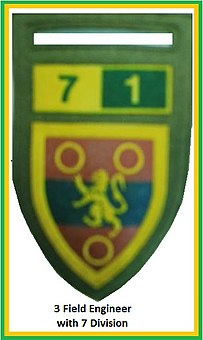 SADF 7 Division 3 Field Engineer Flash