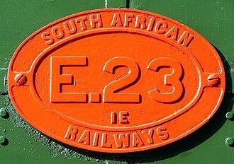 South African Class 1E - Image: SAR Class 1E E23 ID