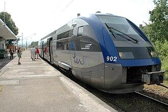 SNCF Class X 73900 - Image: SNCF X 73902 TER Alsace Müllheim Mulhouse