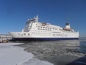 Princess Anastasia (1986) - Image: SPL Princess Anastasia arriving Quay 10 Port of Tallinn 14 March 2013