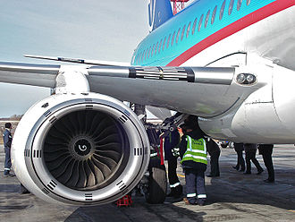 Sukhoi Superjet 100 - One of the aircraft's SaM146 turbofans