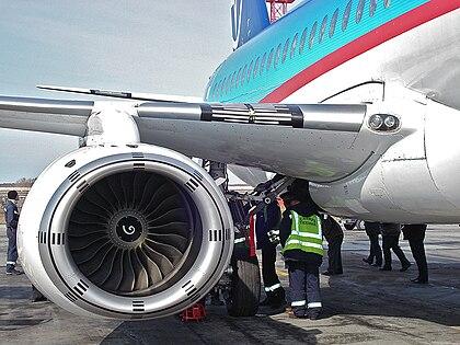 Sam146 на самолёте superjet 100