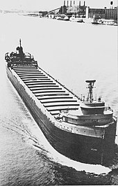 SS Edmund Fitzgerald upbound and in ballast