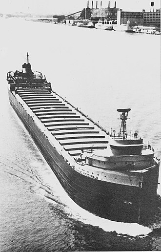 SS Edmund Fitzgerald - SS Edmund Fitzgerald, upbound and in ballast