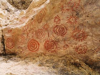 Altiplano Cundiboyacense - Pictographs discovered in a rock shelter outside Sáchica, Boyaça