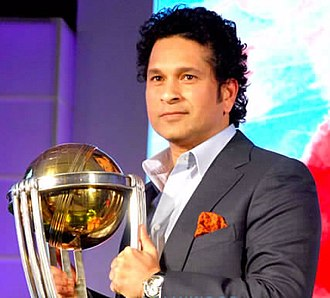 Sachin Tendulkar - Tendulkar with the ICC Cricket World Cup in 2015
