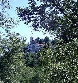 Sacro Monte di Belmonte with the Sanctuary.