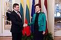 Saeimu oficiālā vizītē apmeklē jaunievēlētais Lietuvas Seima priekšsēdētājs (8266742094).jpg