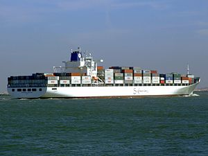 Safmarine Nomazwe p15 approaching Port of Rotterdam, Holland 19-Apr-2007.jpg