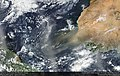 Saharan dust over the Atlantic Suomi NPP VIIRS March 29 2017 (33583459482).jpg