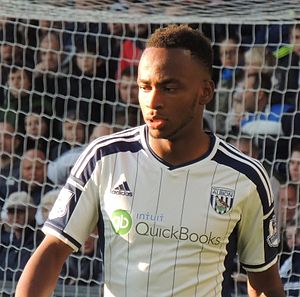 Saido Berahino - Berahino playing for West Bromwich Albion in 2014