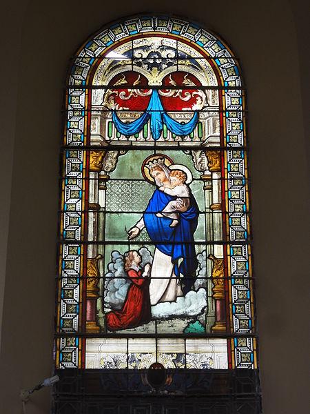 Saint-Algis (Aisne) église Saint-Algis, vitrail