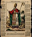 Saint Blaise. Coloured lithograph (?). Wellcome V0048895.jpg