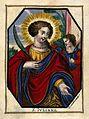 Saint Juliana. Coloured engraving on vellum by J. van den Sa Wellcome V0033317.jpg
