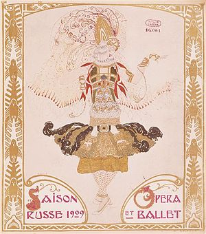 History of music in Paris - Poster for the Ballets Russes (1909)