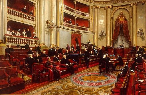 Salón de Sesiones del Senado en 1906 (Asterio Mañanós Martínez)