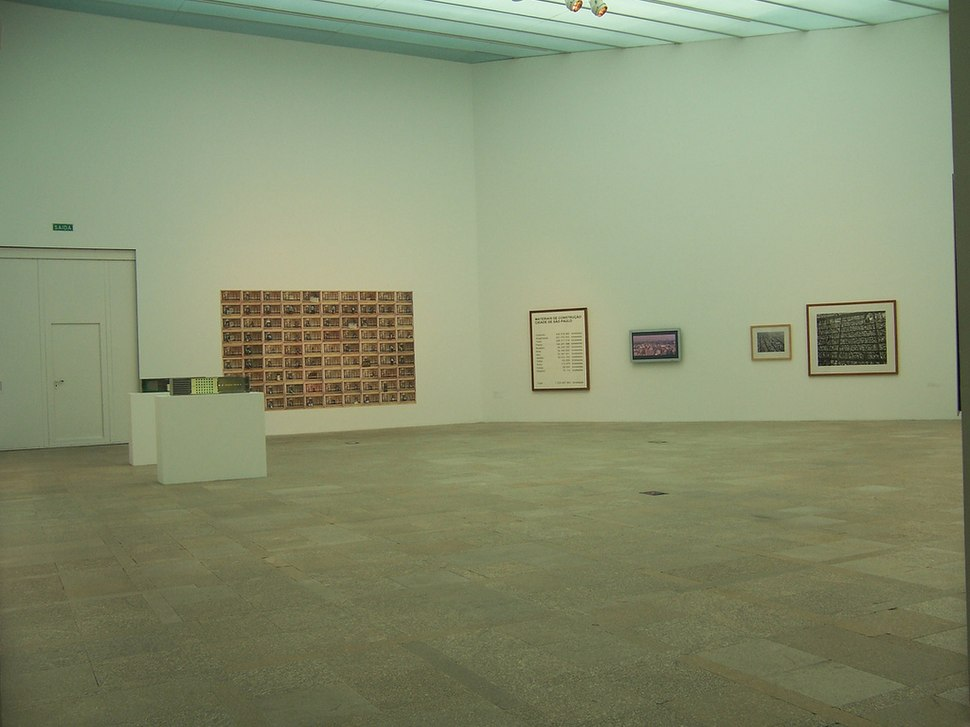 Unha das salas de exposición.