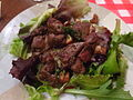 Salade lyonnaise aux foies de volaille.JPG
