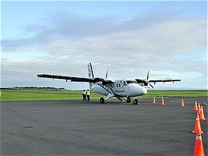 Samoa - flight from Apia to Niue