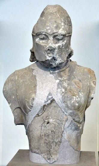 Heraion of Samos - Samos, Temple of Hera, statue of a warrior 530 BC.