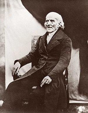 English: Daguerreotype of Samuel Hahnemann, fo...
