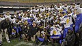 San Jose State players with 2012 Military Bowl trophy.jpg