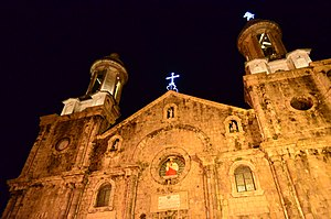Bacolod - San Sebastian Cathedral at night.