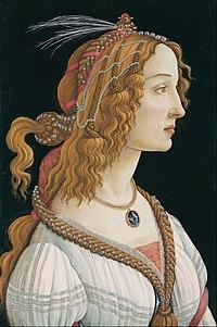 Sandro Botticelli - Idealized Portrait of a Lady (Portrait of Simonetta Vespucci as Nymph) - Google Art Project.jpg