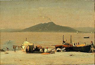Mount Vesuvius from Marina Grande, Capri