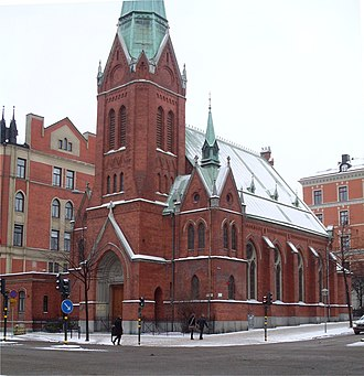 Catholic Apostolic Church - The former Catholic-Apostolic church in Stockholm, Sweden, built in 1889–90. Since the 1970s, it has served as a Greek Orthodox church.