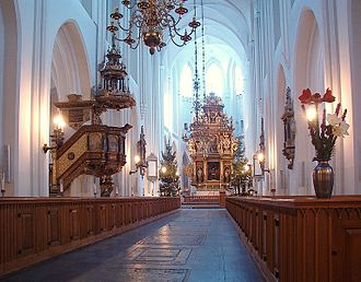 St. Peter's Church, Malmö - View of the interior from the entrance