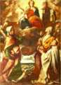 Sant'Anna, Santa Domenica e il rev. Gaudenzio Bovio – chiesa di Sant'Anna – Bellinzago Novarese (1629 ca).png