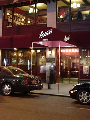 New York (Glee) - Filming for the episode took place in several locations in New York City, including Sardi's.