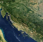 Satellite image of Croatia