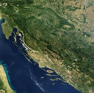 Satellite image of Croatia in September 2003