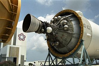 Rocketdyne J-2 - The single J-2 engine of an S-IVB.