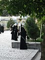 Saudi Arabian woman with Niqab taking photo from Mosque of Mohammad al Mahruq - Nishapur 2.jpg