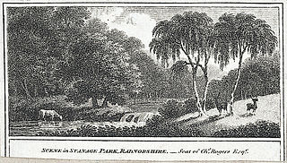 Scene in Stanage Park, Radnorshire: seat of Chs. Rogers, Esqr