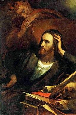 Scheffer, Faust dans son atelier 2