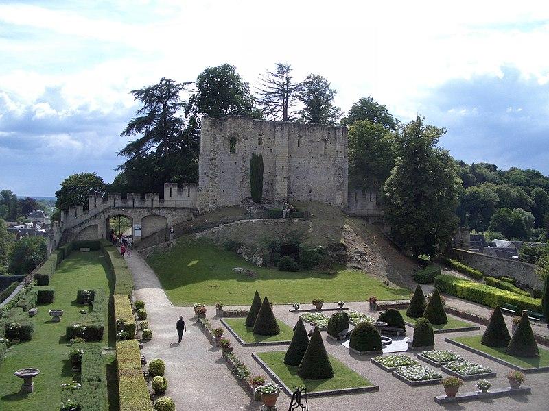 The château de Langeais, ruin of the donjon