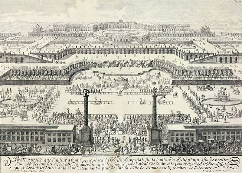 Fail:Schoenbrunn Palace utopic design I 1688.jpg