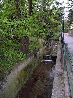 Döbling - Schreiberbach stream before Nußdorf.