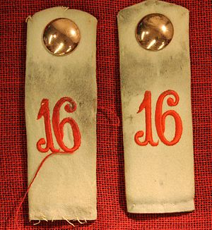 "16th Division (German Empire) - WWI German army epaulettes indicating ""16"""