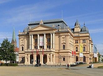 Mecklenburg State Theatre - Mecklenburg State Theatre in Schwerin (facade of the main theatre of Mecklenburgisches Staatstheater)